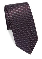 Brioni Geo Diamond Silk Tie