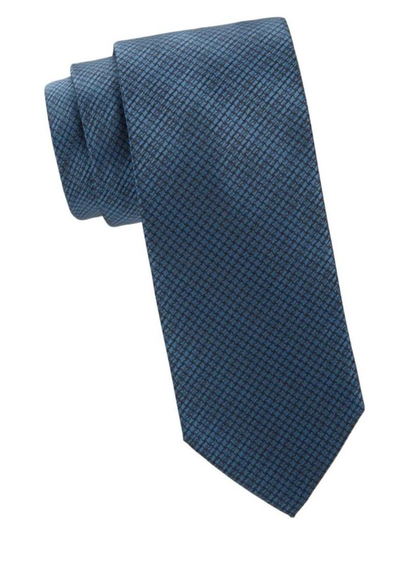 Brioni Geo-Print Houndstooth Silk Tie