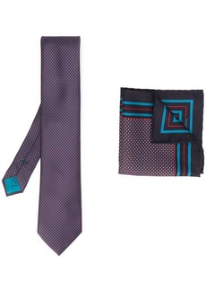Brioni geometric-pattern silk tie set