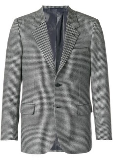 Brioni gingham print blazer