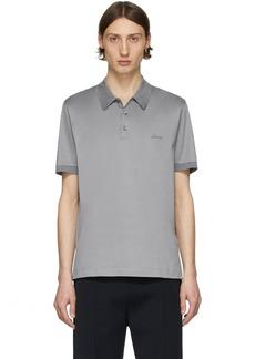 Brioni Grey Logo Polo