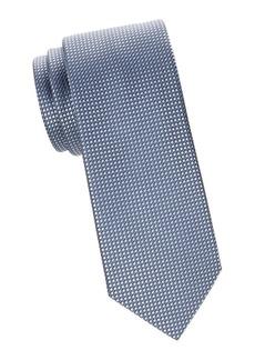 Brioni Grid Jacquard Silk Tie