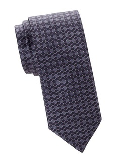 Brioni Hexagon Silk Tie