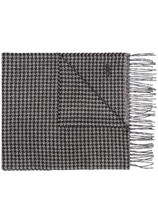 Brioni Houndstooth knitted scarf