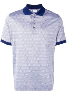 Brioni houndstooth polo shirt