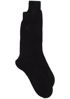 Brioni intarsia knit cotton socks