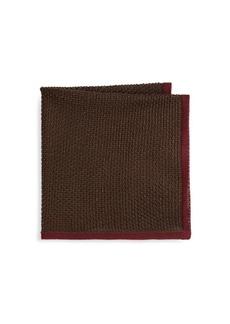 Brioni Knit Silk Pocket Square