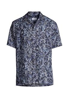Brioni Leaves Short-Sleeve Shirt