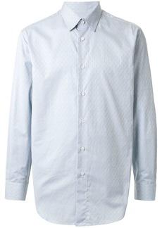Brioni logo check print shirt