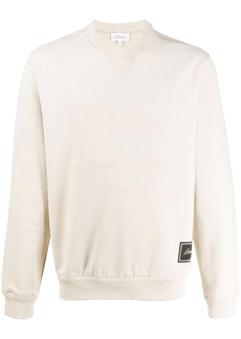 Brioni logo long-sleeve jumper