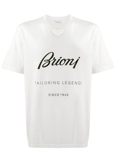 Brioni logo printed T-shirt