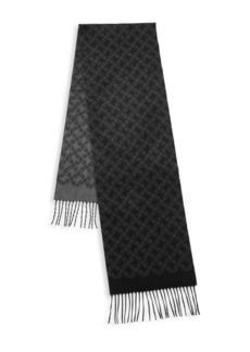 Brioni Logo Silk & Cashmere Scarf