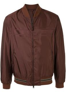 Brioni logo stripe bomber jacket