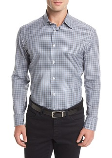 Brioni Long-Sleeve Check Sport Shirt