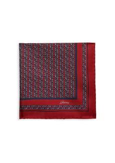 Brioni Loom Weave Silk Pocket Square