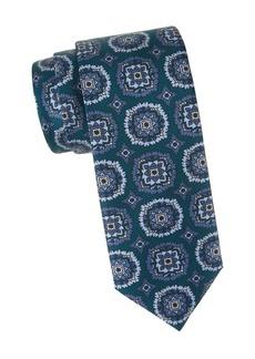 Brioni Medallion Print Silk Tie