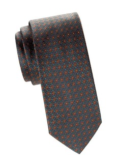 Brioni Medallion Silk Jacquard Tie