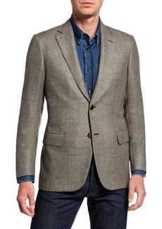 Brioni Men's Basketweave Wool/Silk Two-Button Jacket