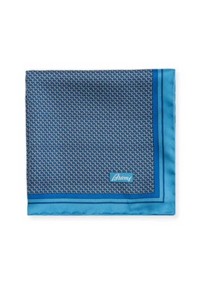Brioni Men's Box-Print Silk Pocket Square