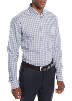 Brioni Men's Check Cotton Sport Shirt