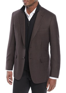 Brioni Men's Check Wool/Silk Jacket