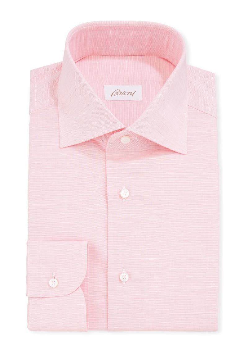 Brioni Men's Cotton/Linen Dress Shirt