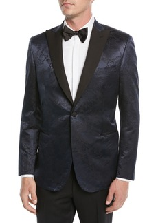 Brioni Men's Floral Jacquard Dinner Jacket
