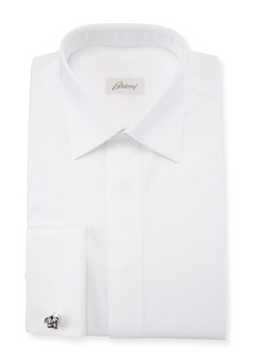 Brioni Men's Geometric-Weave French-Cuff Formal Shirt