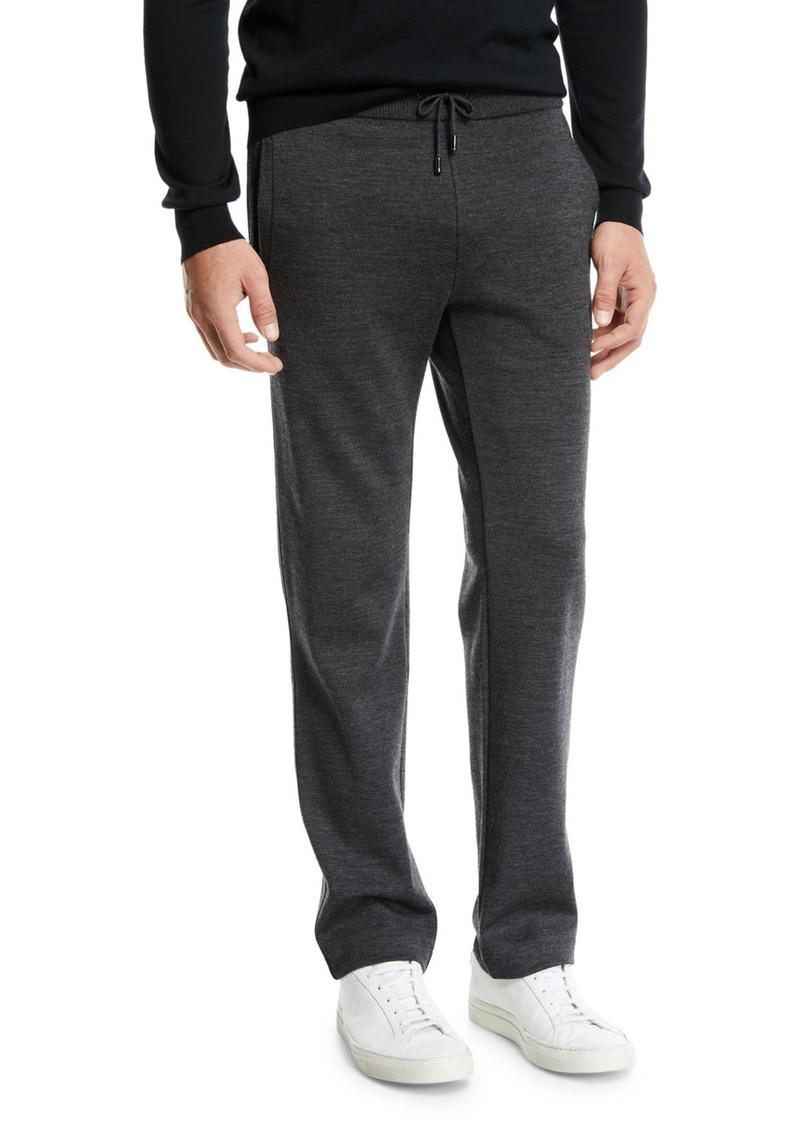 Brioni Men's Heathered Jersey Sweatpants