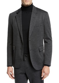 Brioni Men's Heathered Jersey Two-Button Jacket