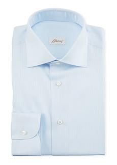Brioni Men's Herringbone Dress Shirt