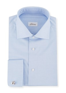 Brioni Men's Horizontal Weave French-Cuff Dress Shirt