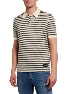 Brioni Men's Jersey Striped Polo Shirt