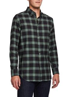 Brioni Men's Loden Plaid Sport Shirt