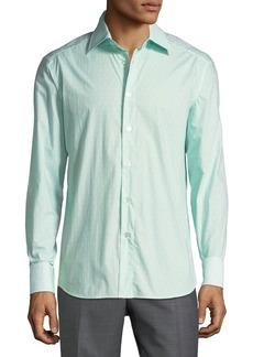 Brioni Men's Long-Sleeve Regular-Fit Printed Shirt