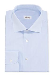 Brioni Men's Micro-Check Cotton Dress Shirt