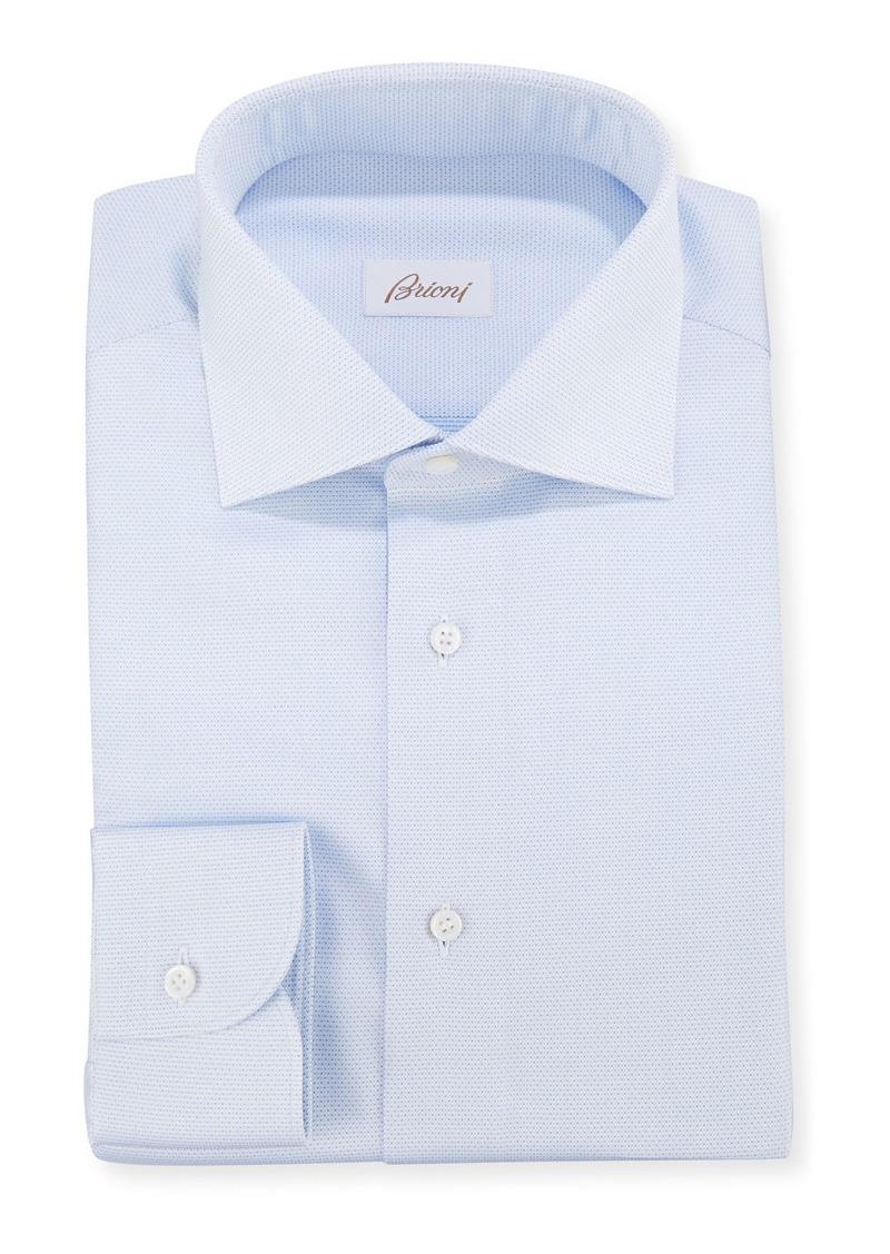 Brioni Men's Micro-Dot Dress Shirt
