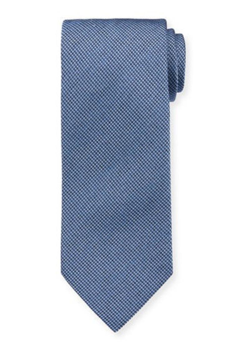 Brioni Men's Micro-Houndstooth Silk Tie