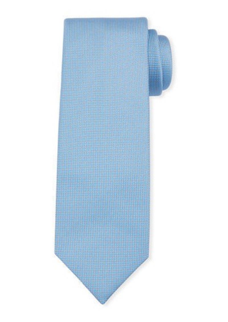 Brioni Men's Micro-Neat Solid Silk Tie