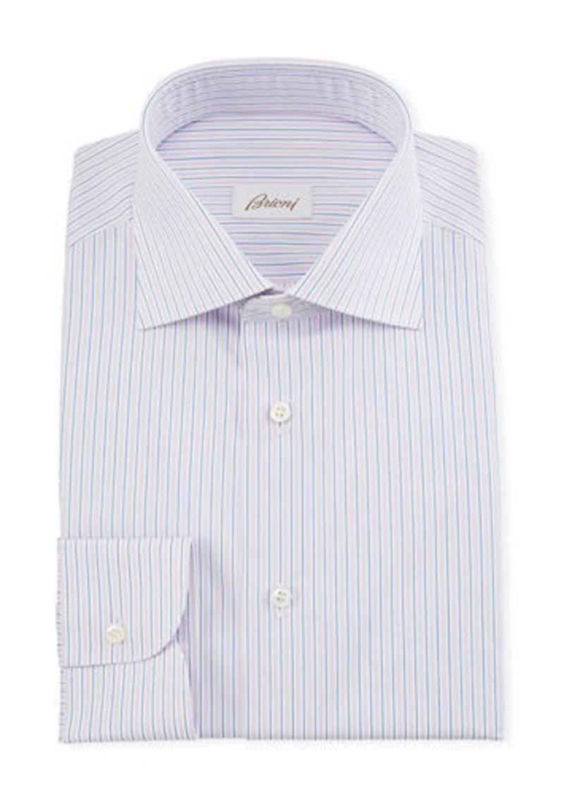 Brioni Men's Multi-Stripe Dress Shirt