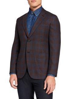 Brioni Men's Ombre-Check Two-Button Jacket
