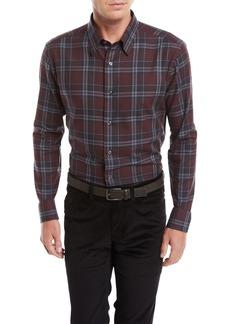 Brioni Men's Plaid Cotton Shirt