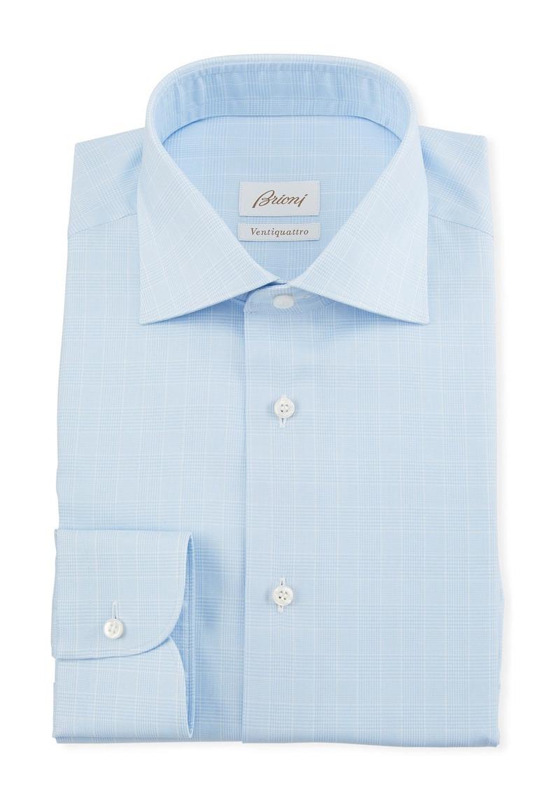 Brioni Men's Prince of Wales Dress Shirt