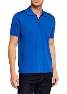 Brioni Men's Short-Sleeve Solid Polo Shirt