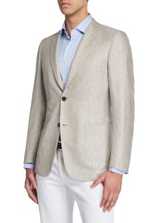 Brioni Men's Solid Cashmere-Silk Two-Button Jacket