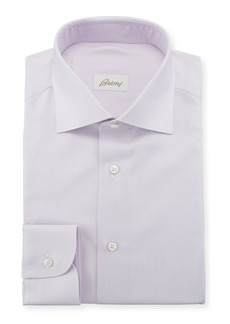 Brioni Men's Solid Cotton/Silk Dress Shirt