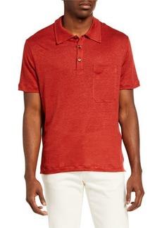Brioni Men's Solid Linen Polo Shirt