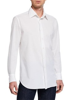 Brioni Men's Solid Pique Sport Shirt