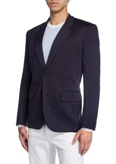 Brioni Men's Solid Silk-Cotton Knit Two-Button Blazer