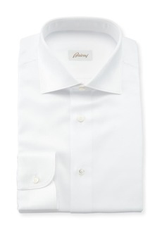 Brioni Men's Solid Textured Dress Shirt